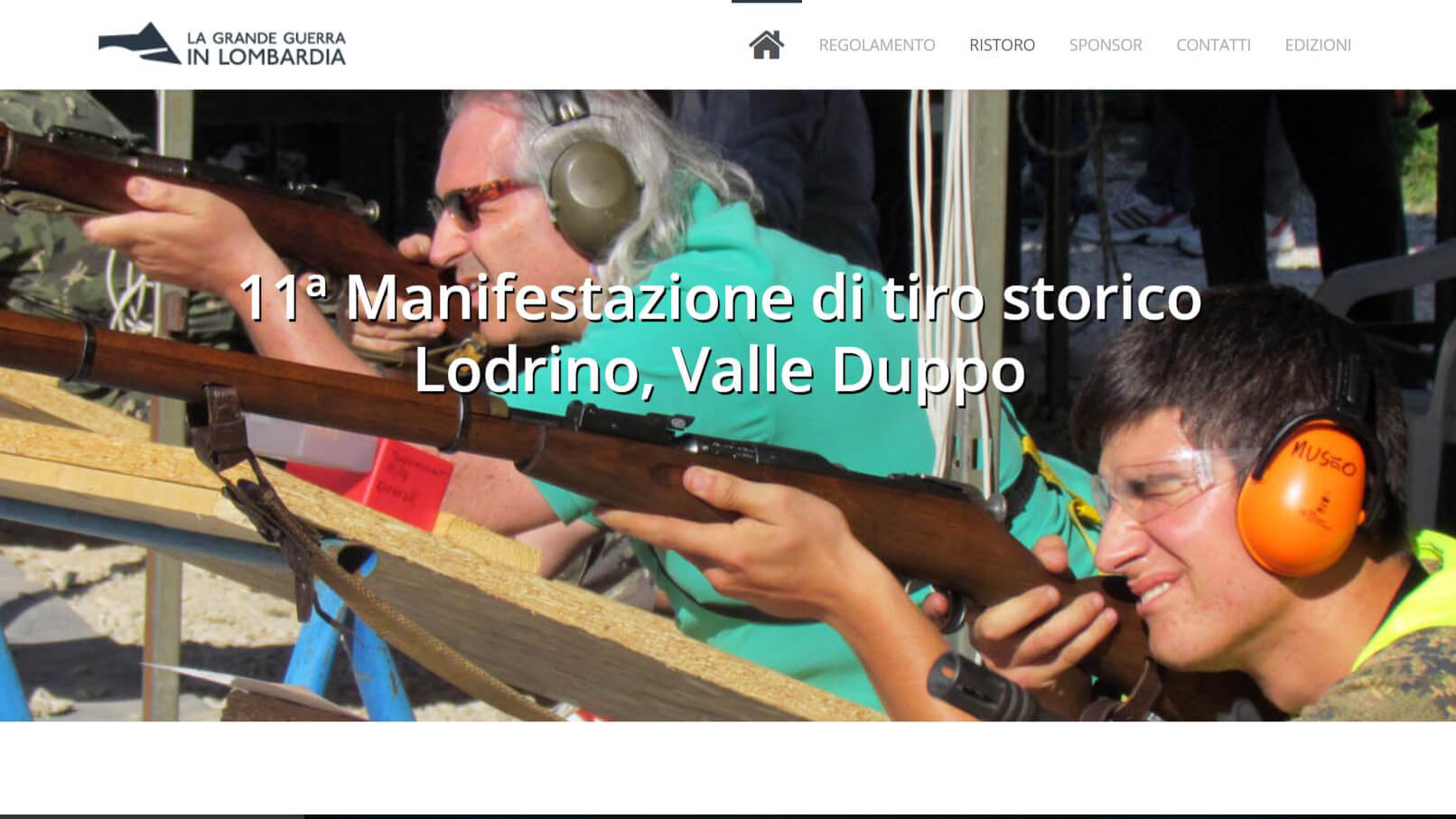 The website for the 11<sup>th</sup> historical shooting meeting in Lodrino